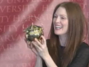 Julianne Moore accepts Hasty Pudding Pot Courtesy of NECN