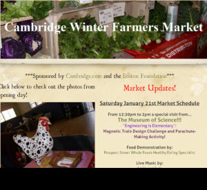 Cambridge Mass Winter's Farmer Market